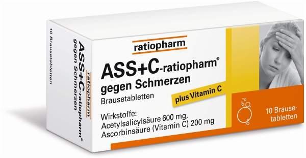 ASS+C-ratiopharm gegen Schmerzen 10 Brausetabletten