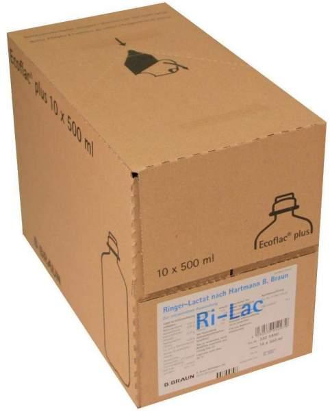 Ringer Lactat Nach Hartmann B.Braun Ecoflasche Plus 10 X 500 Ml...