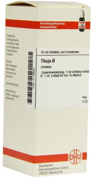 Thuja Urtinktur 50 ml Dilution