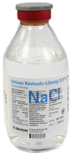 Kochsalzlösung 0,9% Glasflasche 250 ml