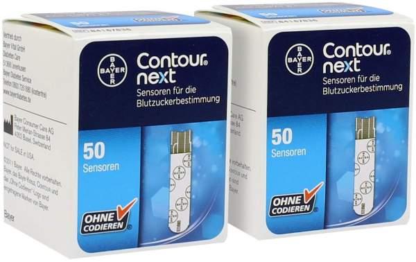 Sparset Contour next Sensoren 2 x 50 Teststreifen