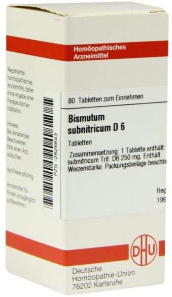 Bismutum Subnitricum D6 80 Tabletten