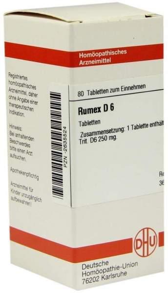 Rumex D6 Tabletten 80 Tabletten