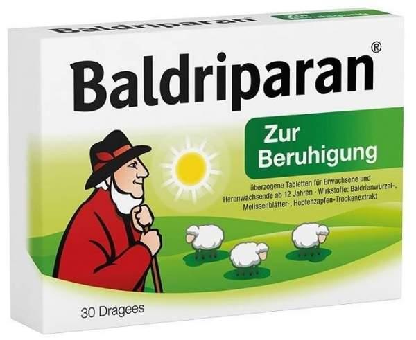 Baldriparan zur Beruhigung 30 überzogene Tabletten