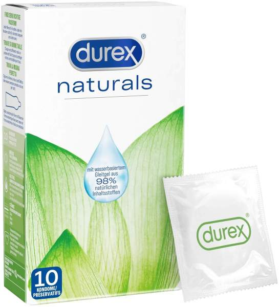 Durex Naturals Kondome mit Gleitgel 10 Stück