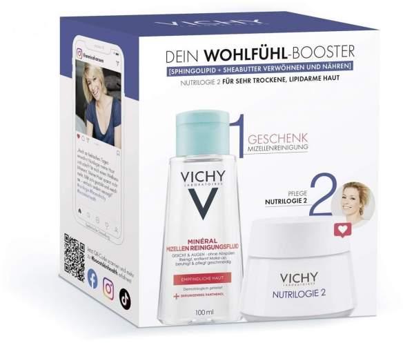 Vichy Nutrilogie 2 Routineset + gratis Purete Thermale Mineral Mizellen Reinigungsfluid 100 ml