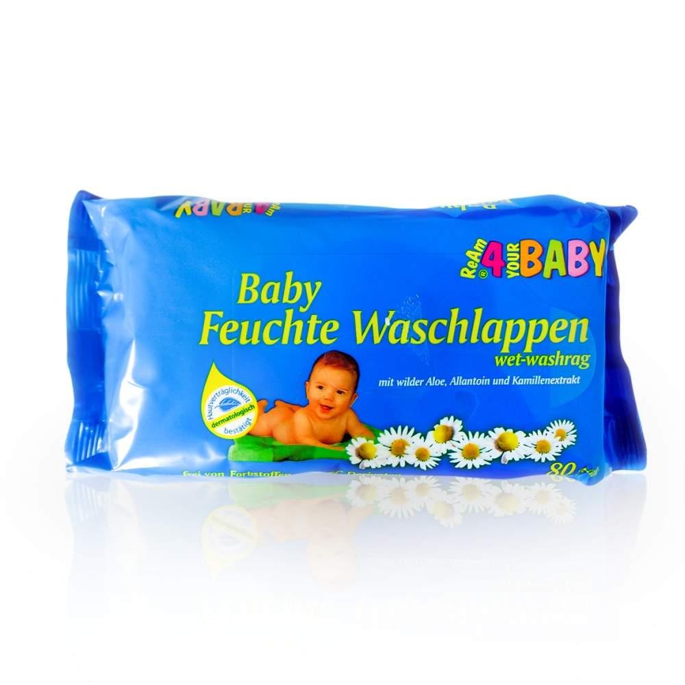 Axisis GmbH Feuchte Waschlappen Ream 4 Your Baby - 80Stück