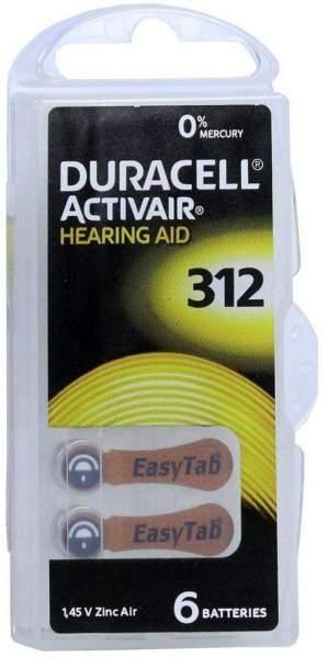 Batterien Für Hörgeräte Duracell 312 6 Stück
