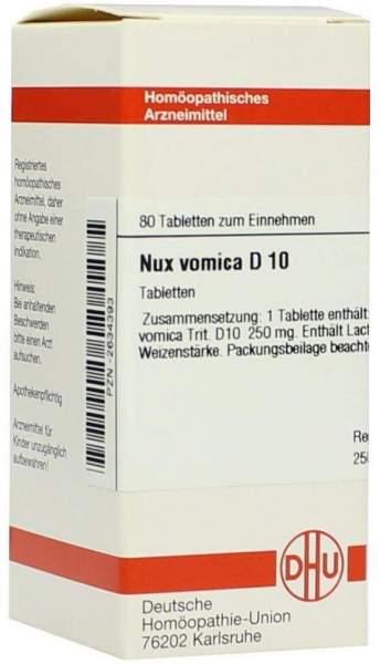 Nux Vomica D10 Tabletten 80 Tabletten