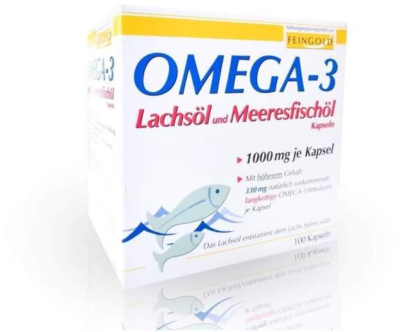 Omega 3 Lachsöl und Meeresfischöl 100 Kapseln