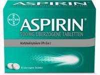 Aspirin 500mg überzogene 40 Tabletten