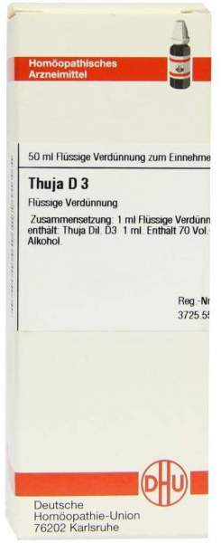 Thuja D3 Dilution 50 ml Dilution