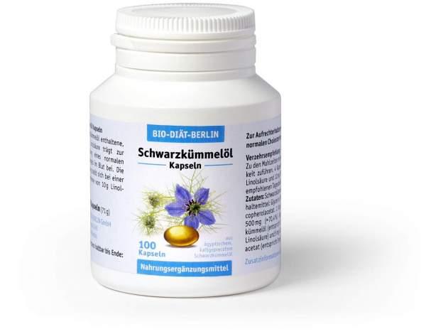 Schwarzkümmelöl Bio Diät 100 Kapseln
