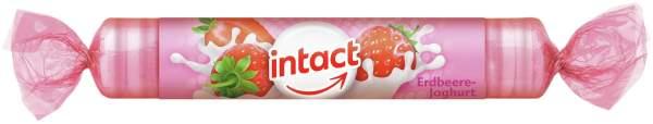 Intact Traubenzucker Erdbeere Joghurt 40 G Rolle