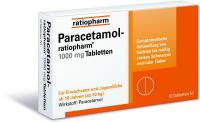 Paracetamol-ratiopharm 1000mg 10 Tabletten