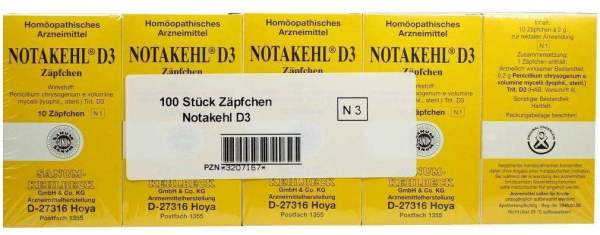 Notakehl D 3 Suppositorien 100 Zäpfchen