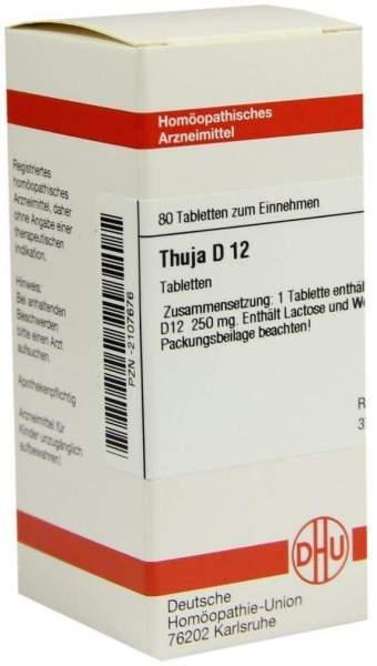Thuja D 12 80 Tabletten