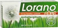 Vorschau: Lorano akut Antiallergikum 100 Tabletten