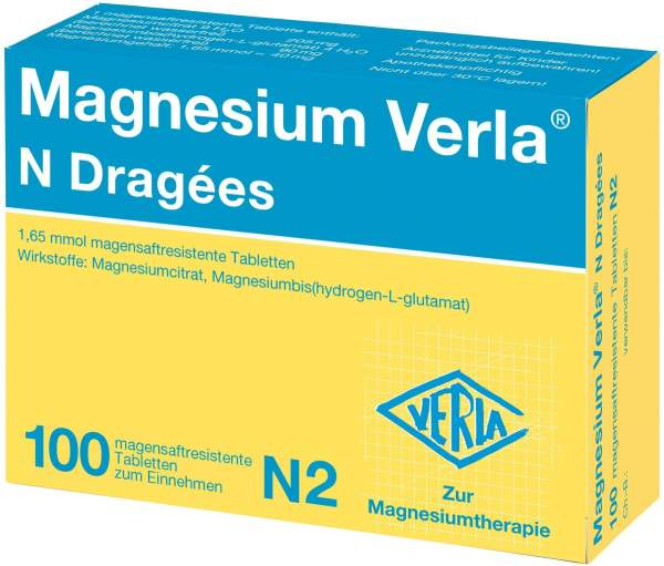Magnesium Verla N 100 Dragees