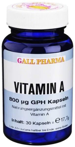 Vitamin A 800 µg Gph 30 Kapseln