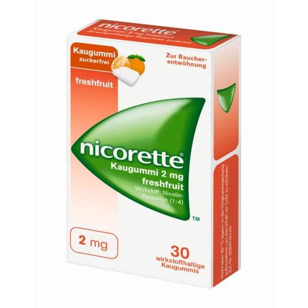 Nicorette 2 mg freshfruit Kaugummi 30 Stück