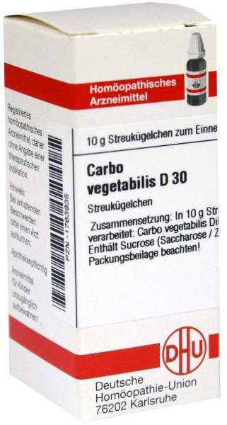 Carbo Vegetabilis D30 10 G Globuli