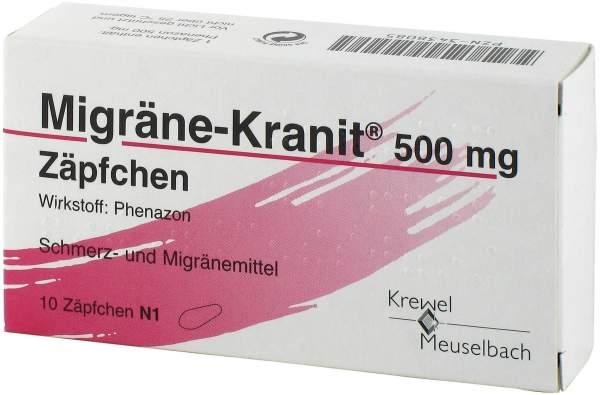 Migräne Kranit 500 mg 10 Zäpfchen