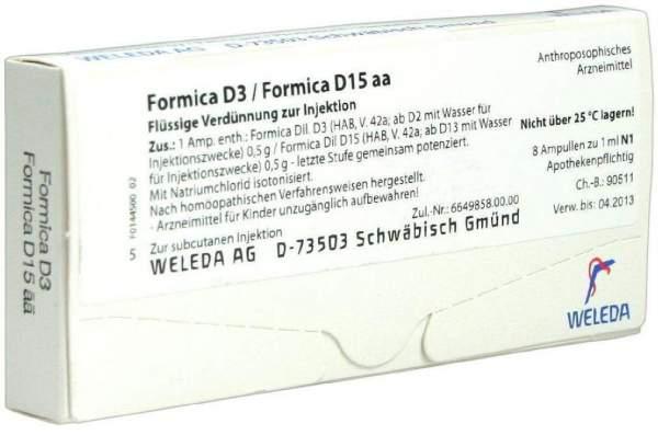 Formica D 3 Formica D 15 aa Weleda 8 x 1 ml Ampullen