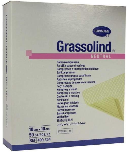 Grassolind Neutral 10 X 10 cm Steril 50 Stück