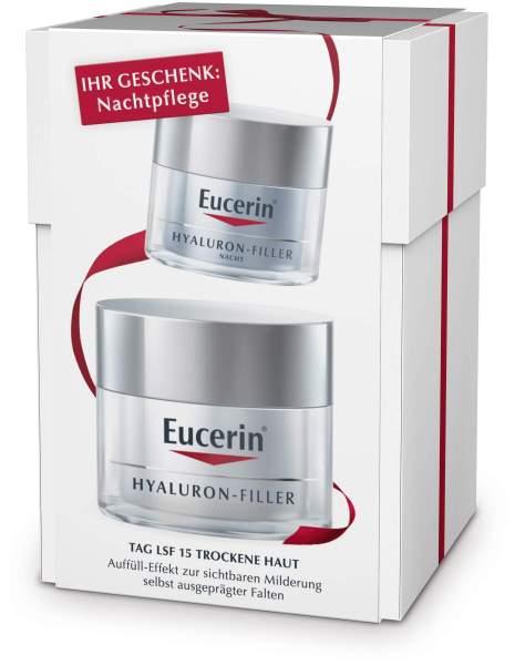 Eucerin Anti - Age Hyaluron - Filler Tag trockene Haut 50 ml + gratis Nachtpflege 20 ml