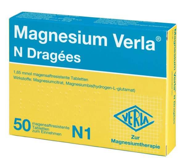 Magnesium Verla N 50 Dragees