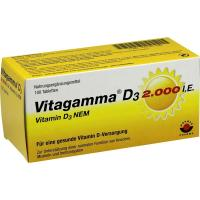 Vitagamma D3 2.000 I.E. Vitamin D3 Nem 100 Tablette