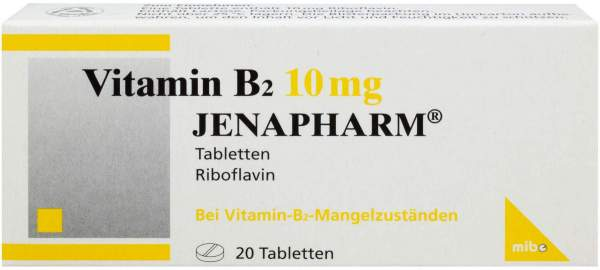 Vitamin B 2 10 mg Jenapharm 20 Tabletten
