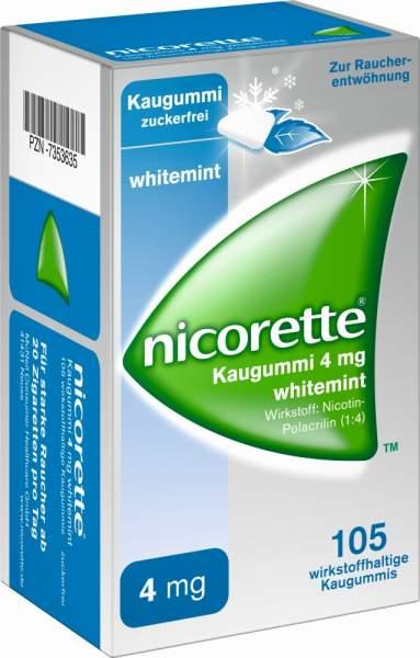 Nicorette Kaugummi 4 mg whitemint 105 Kaugummis