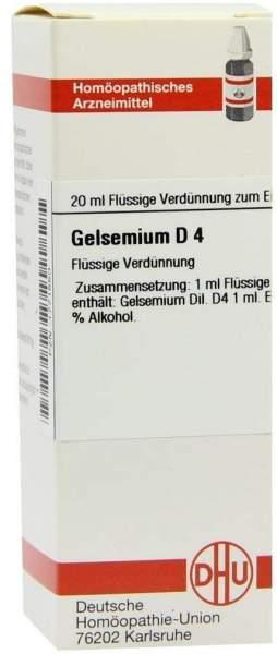 Dhu Gelsemium D4 20 ml Dilution
