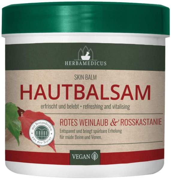 Hautbalsam rotes Weinlaub & Rosskastanien Gel 250 ml