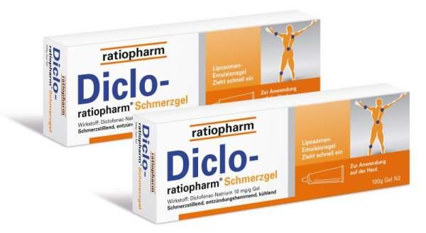 Sparset Diclo-ratiopharm Schmerzgel 2x100g