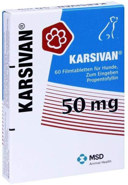 Karsivan 50 mg für Hunde 60 Filmtabletten