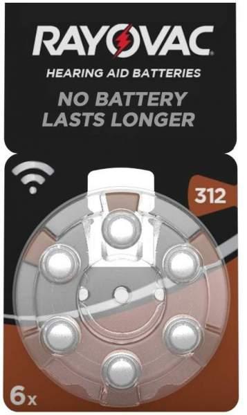 Rayovac Hörgerätebatterien 312 braun