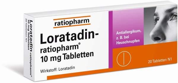 Loratadin Ratiopharm 10mg 20 Tabletten