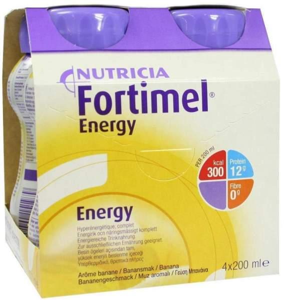 Fortimel Energy Bananengeschmack 4 X 200 ml Flüssigkeit