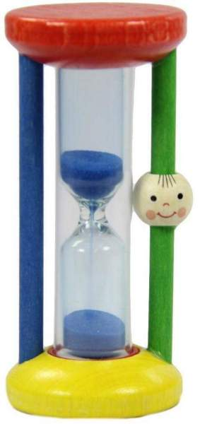 Zahnputzuhr Kinder 3 Minuten 1 Sanduhr