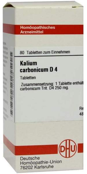 Kalium Carbonicum D4 Dhu 80 Tabletten