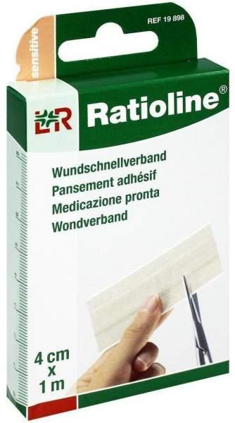 Ratioline Wundschnellverband 4 cm x 1 m 1 Packung