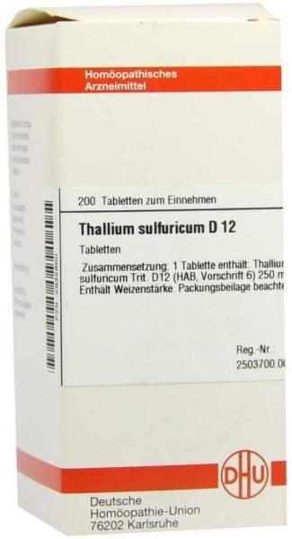 Dhu Thallium Sulfuricum D12 Tabletten