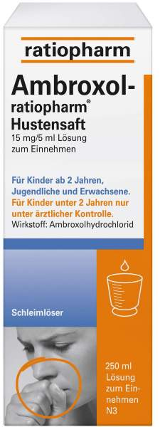 Ambroxol-ratiopharm 250 ml Hustensaft