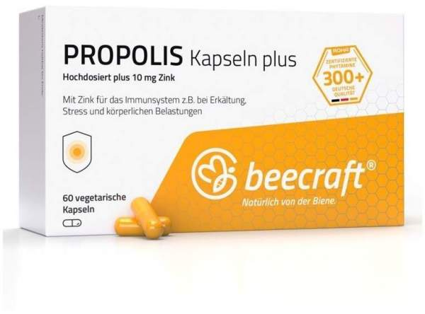 Beecraft Propolis Kapseln plus 10 mg Zink 60 Stück