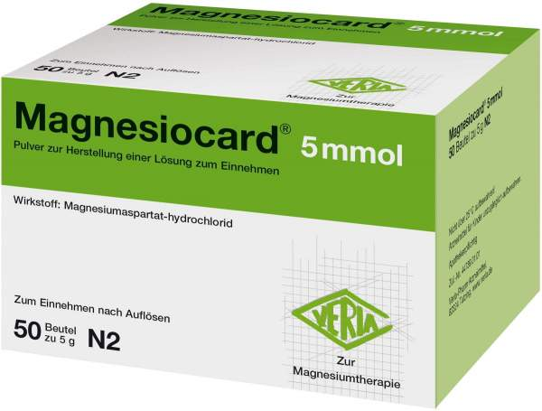 Magnesiocard 5 Mmol Pulver 50 Beutel