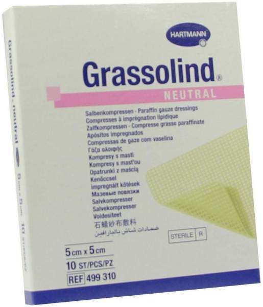 Grassolind Neutral 5 X 5 cm Steril 10 Stück