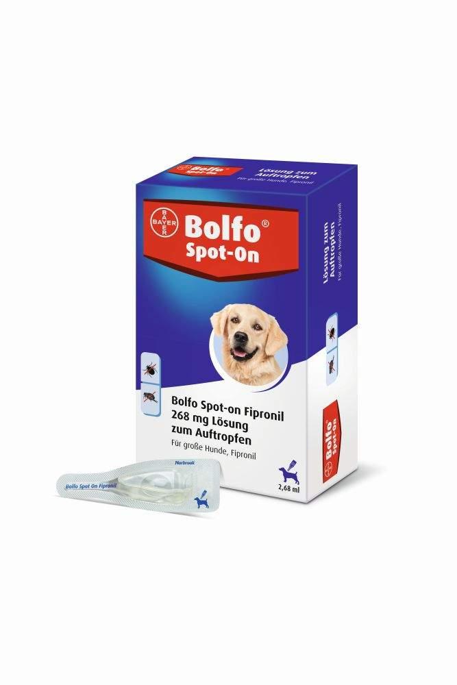 Bolfo Spot On für große Hunde bis 40 kg 3 Ampullen